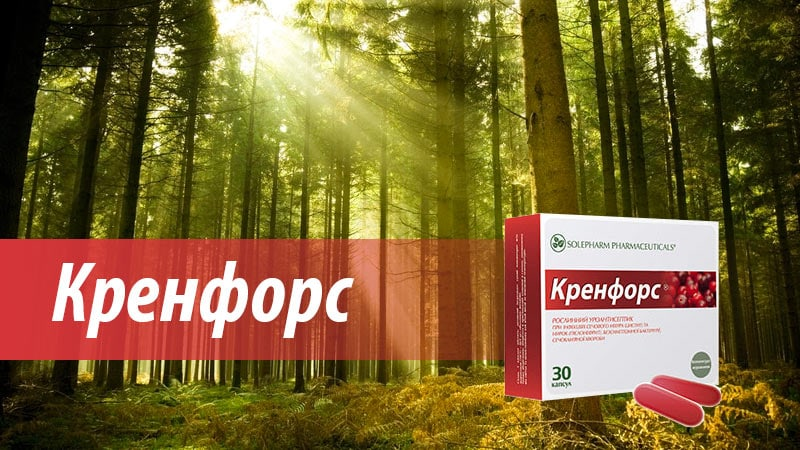 KRENFORS plant uroantiseptic for use in diseases of the urinary system